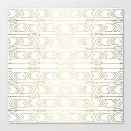 GOLD AZTEC Canvas Print