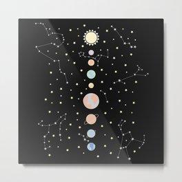 For You - Solar System Illustration Metal Print