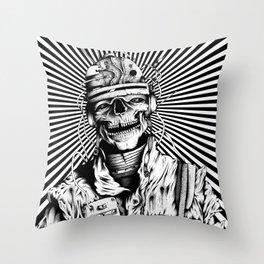 Skelenaut V2 (Black & White) Throw Pillow