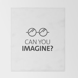Can You Imagine John Classic Glasses Design Throw Blanket