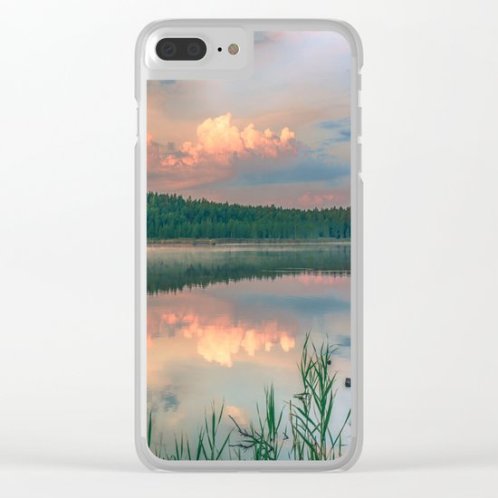 Misty Sunrise Clear iPhone Case