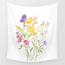 yellow pink white and  purple windflowers 2020 Wall Tapestry