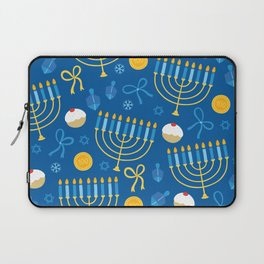 Hanukkah Menorah Pattern Laptop Sleeve