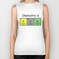 chemistry Biker Tanks featuring Chemistry is by Rhodium Clothing