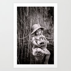 Under the Willow Tree II Art Print