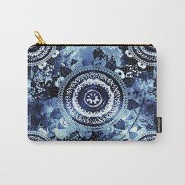 Navy Sea Mandala Carry-All Pouch