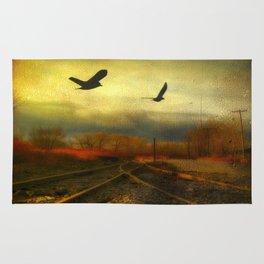 Flight Of The Blackbirds Rug
