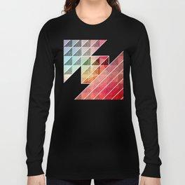 Abstract Geometric Design Long Sleeve T-shirt