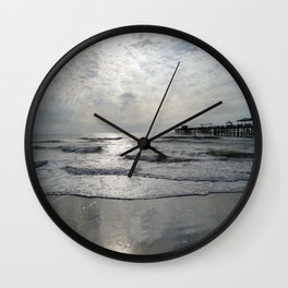 On A Stormy Winterday Wall Clock