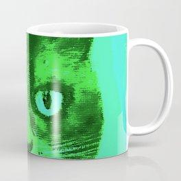 green head cat Coffee Mug