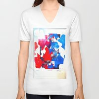 texas V-neck T-shirts featuring Texas by Evan Hawley