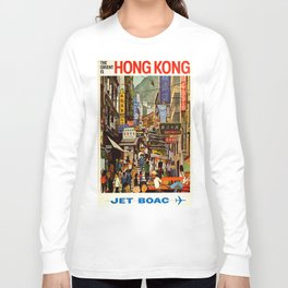 Vintage poster - Hong Kong Long Sleeve T-shirt