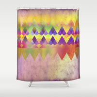camping Shower Curtains featuring Camping Dreams by Gréta Thórsdóttir