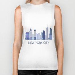 new york skyline Biker Tank