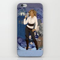 river song iPhone & iPod Skins featuring River Song by Saintash
