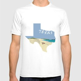 Texas: Mustang Island T-shirt