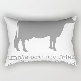Animals Are My Friends Animal Rights Rectangular Pillow