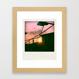 Sunset on my way Framed Art Print