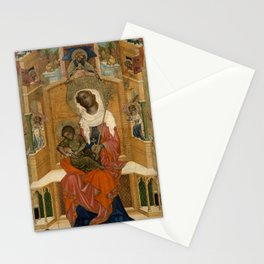 Unknown Artist (Bohemian) - Mary Enthroned with the Child (Glatz Madonna) (1350) Stationery Cards