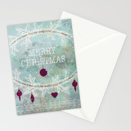 New Year. Grunge blue . Stationery Cards