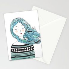 Whales in my hair Stationery Cards