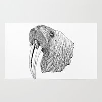 walrus Area & Throw Rugs featuring Walrus by MattLeckie
