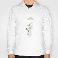 olaf Hoodies featuring Olaf (Frozen) by Robert Woods