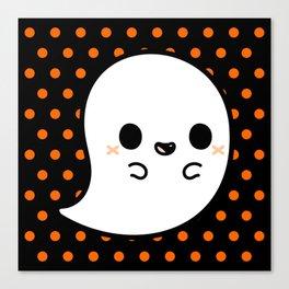 Cute spooky ghost Canvas Print