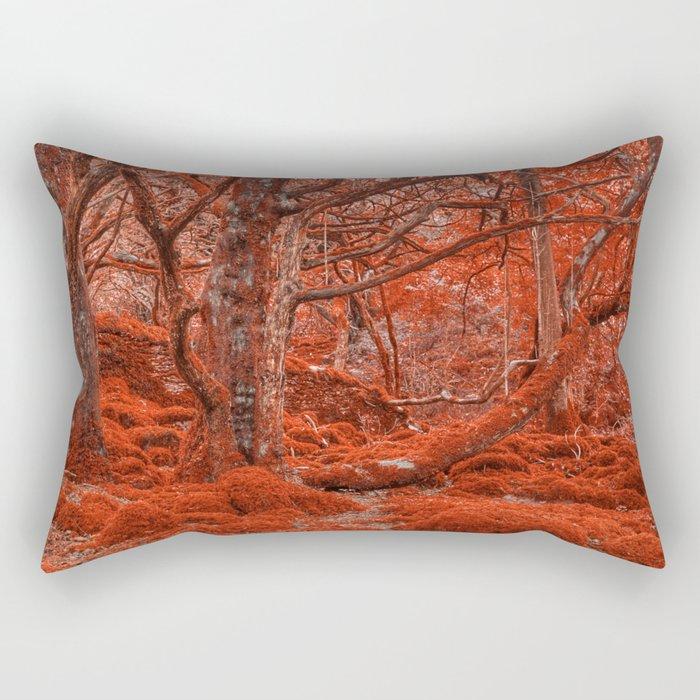 Ruby Moss Forest Rectangular Pillow