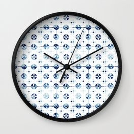 Azulejo I - Portuguese hand painted tiles Wall Clock