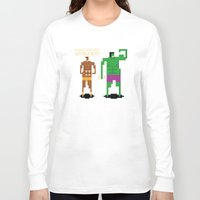 workout Long Sleeve T-shirts featuring Sweet Workout by Hoborobo