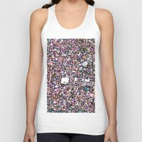 maps Tank Tops featuring Funky Maps, SAN FRANCISCO by MehrFarbeimLeben