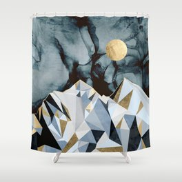 Midnight Peaks Shower Curtain