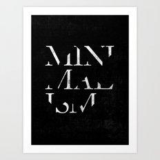 Minimalism Art Print