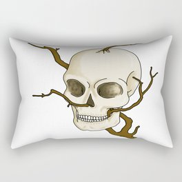 Skull and tree Rectangular Pillow