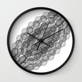 GEOMETRIC NATURE: COULOMB CRYSTAL w/b Wall Clock