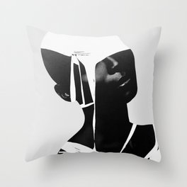 abstract portrait Throw Pillow
