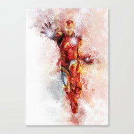 The incredible man of iron Canvas Print