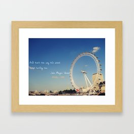 words Framed Art Print