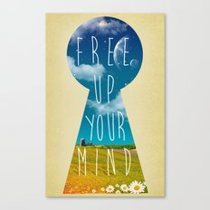 Free Up Your Mind Canvas Print