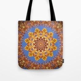 Orange chakra Print, home Meditation art Positive Energy Intention Symbol, Mandala yoga studio leaf Tote Bag