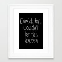 dumbledore Framed Art Prints featuring Dumbledore by bitobots