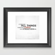 Philippians 4:13 II Framed Art Print