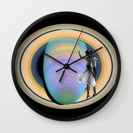 Fred, Audrey & Saturn  Wall Clock