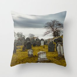 Old Burial Hill, Salem, MA Throw Pillow