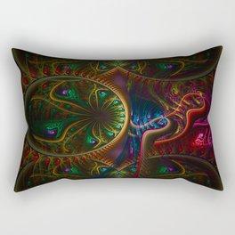 Psycho Gears Fractal Rectangular Pillow