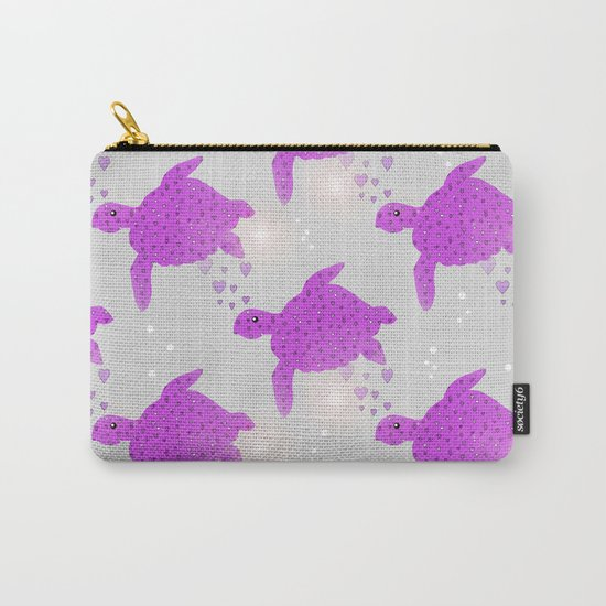 Turtle Hearts Carry-All Pouch