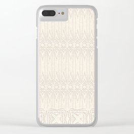Cream and Coffee Chenille Digital Pattern Clear iPhone Case