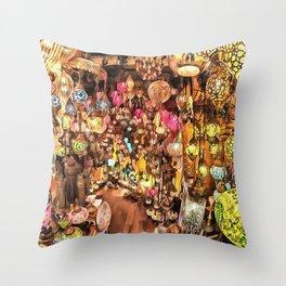 Lanterns, Lamps and Lighting of The Bazaar Throw Pillow