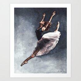 Misty Copeland Ballerina Leap Art Print